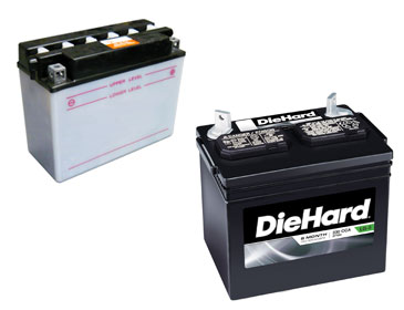 Two Lawn Mower Batteries