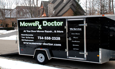 Picture of the Mower Doctor Mobile Repair Trailer