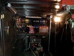 Inside of the Mobile Lawn Mower Repair Shop