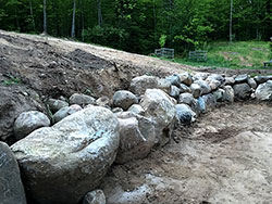 Rock/Boulder retaining Wall
