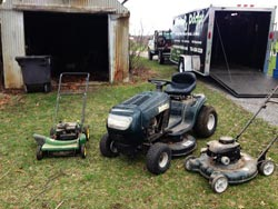 Lawn Mower Repair Service - Before