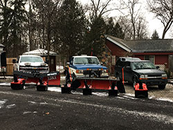 Snow plowing fleet